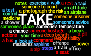 take collocations